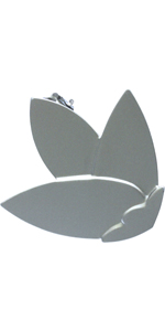 Gardinia Embrasse avec Baguette et Aimant en Acier Inoxydable 18 cm Steel