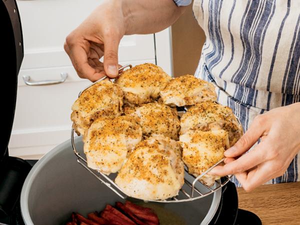 broil rack, broil food, broiled chicken