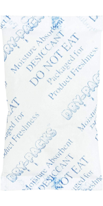 Silica Gel Desiccants 2-1/4 x 1 1/2 Inches - 25 Silica Gel Packets