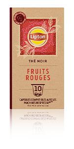 Lipton Thé Noir Fruits Rouges 10 Capsules