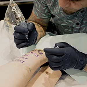 Nitrile tattoo