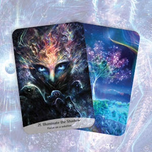 sacred spirit; reading cards; intuition; soul; guidance; oracle cards; inspiration; angel; shadows