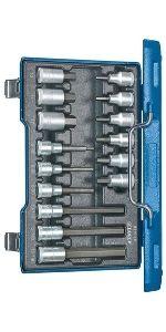 """Screwdriver bit socket set 1/2"""" 15 pcs"""