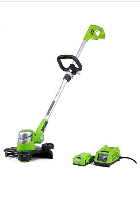 greenworks cordless electric weed wacker string trimmer