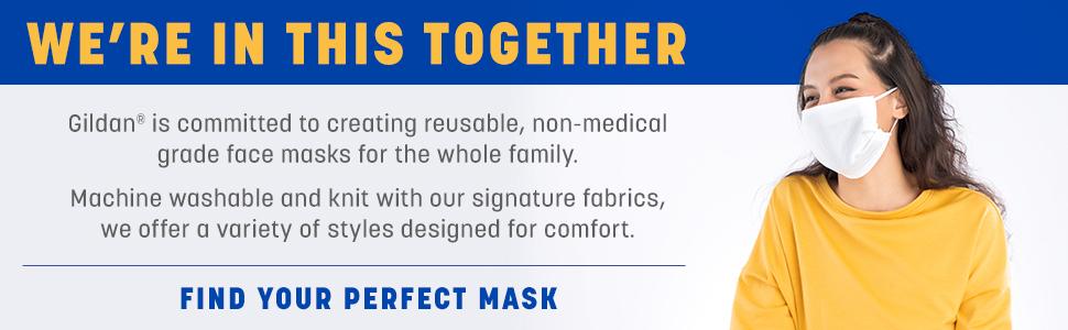 GILDAN Face Masks