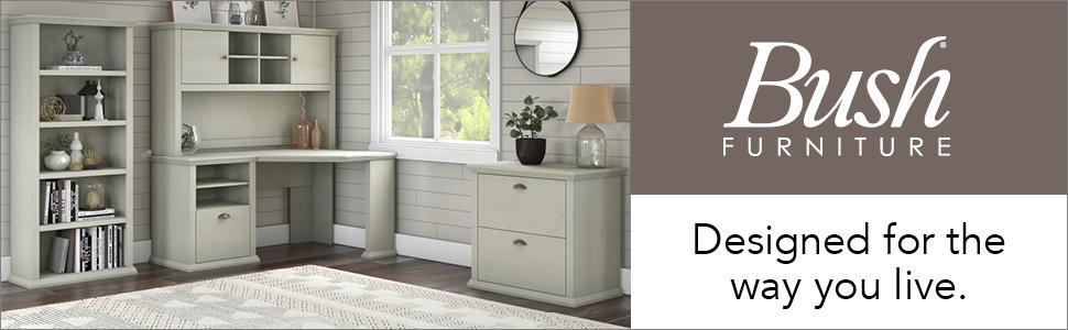 bush furniture,yorktown,linen white oak,white,transitional,bush,bush industries