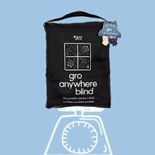 Grobag black out blind, nursery black out blind, portable blackout curtains, gro blackout, travel