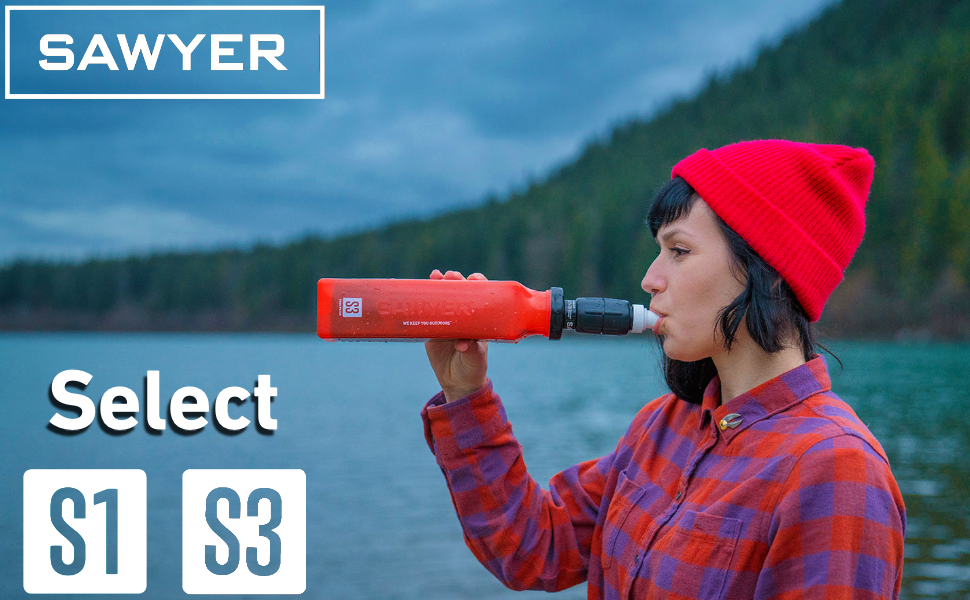 Sawyer Select S1 and S3 Water Filtration Systems