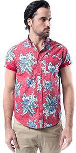 684c8bae Brooklyn Athletics Men's Hawaiian Aloha Shirt Vintage Casual Button ...
