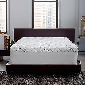 mattress pad down alternative pillow top memory foam topper