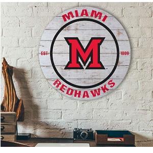Miami of Ohio Redhawks Classic Circle Sign