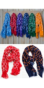 geometric scarves