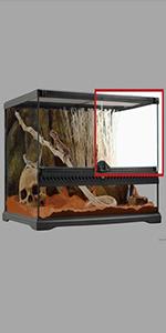 repuesto para terrario; puerta para terrario; terrarios de vidrio; reptiles; terrarios exoterra
