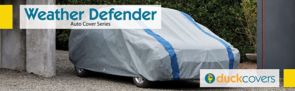Amazon Com Duck Covers A3c200 Weather Defender Car Cover For Sedans Up To 16 8 Gray Navy Blue 200 Inch Length X 60 Inch Width X 51 Inch Height Automotive