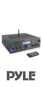 pyle amplifier:bluetooth amplifier;rack mount;home stereo;reciever;stero reciever;theater;speaker