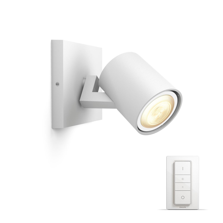 philips luminaire t l command runner spot hue blanc t l commande variateur de lumi re. Black Bedroom Furniture Sets. Home Design Ideas