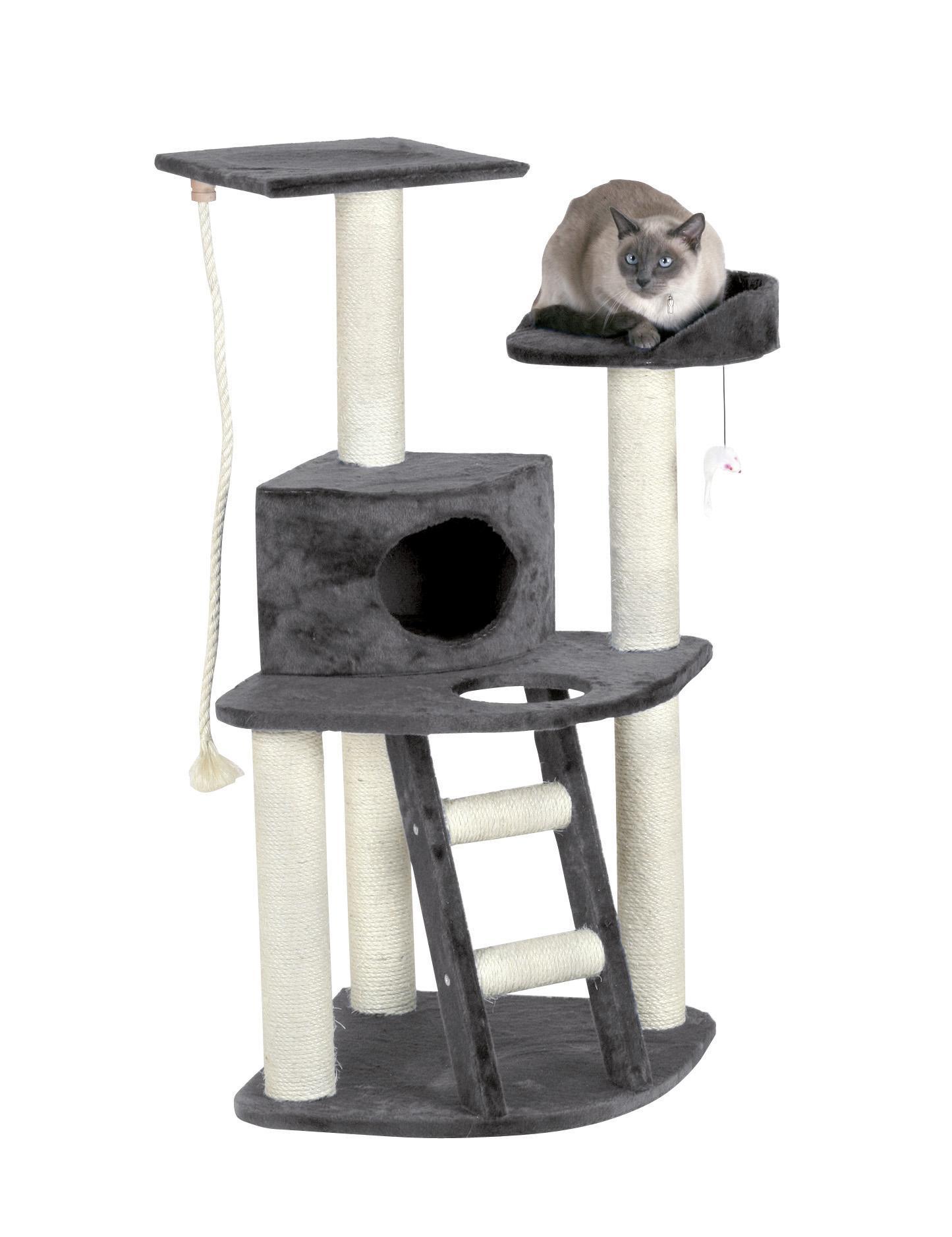 kerbl eck kratzbaum zirkoon grau 55 x 55 x 120 cm haustier. Black Bedroom Furniture Sets. Home Design Ideas