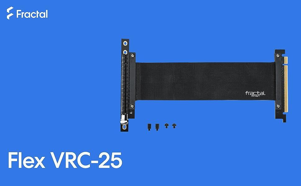 Fractal design fd-acc-flex-vrc-25-bk C/âble de rallonge PCIe