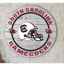 South Carolina Gamecocks Helmet Circle Wall Sign