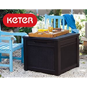 Keter Patio Outdoor Storage Deck Box Bench For Garden Yard Or Poolside