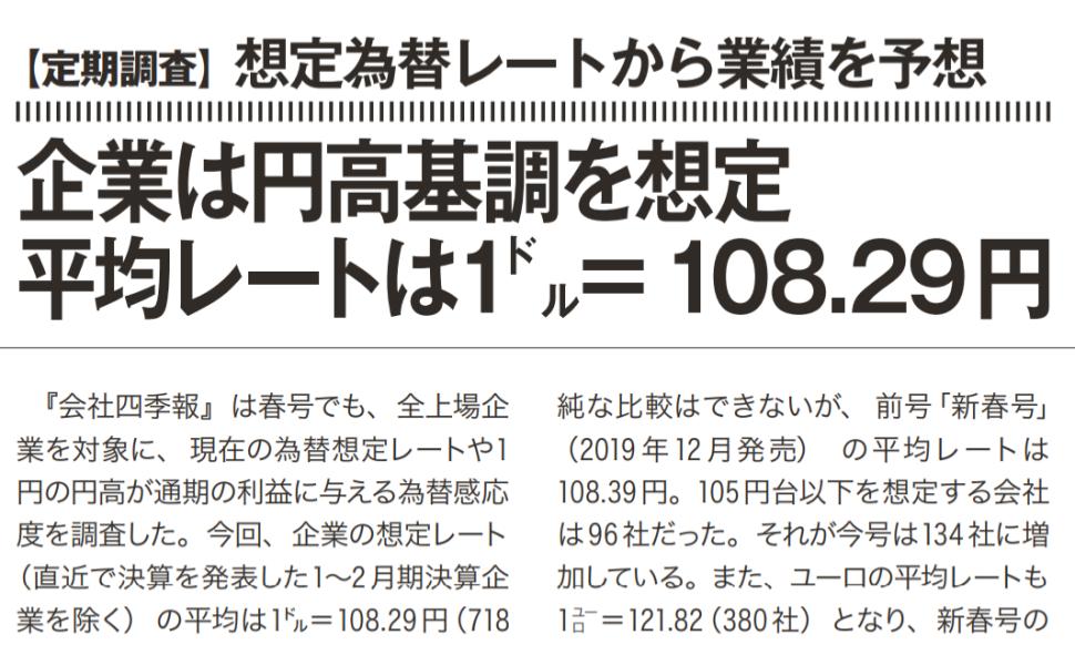 四季報定期調査 円高