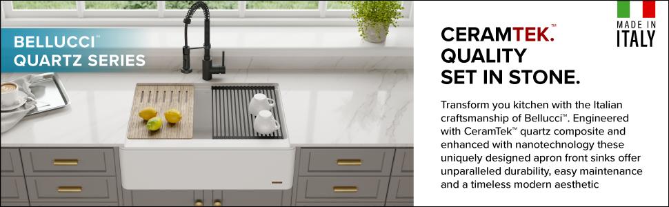 Kraus Kgf1-30 Inch Apron Sink - granite composite sinks, granite kitchen sinks, granite sink, deep kitchen sinks