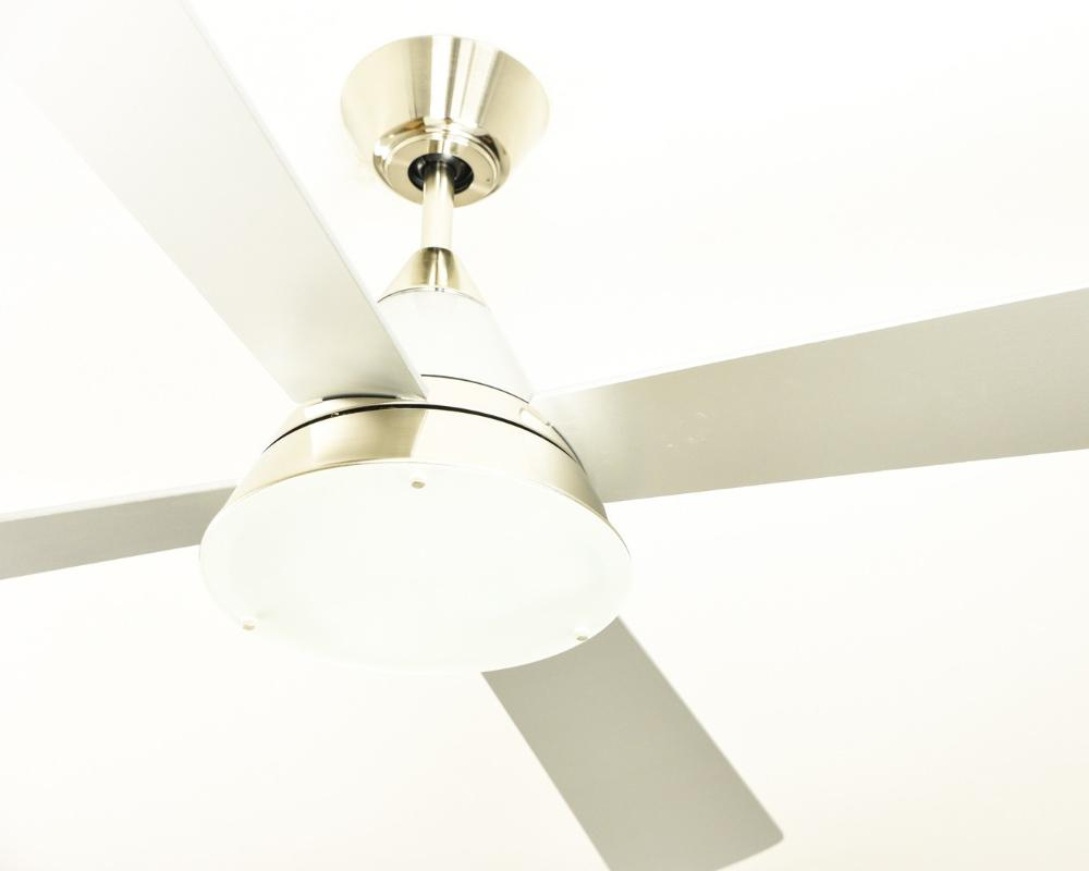 Low Energy Ceiling Fan Cosmos Satin Nickel 52 Quot With Light