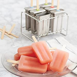 stainless steel popsicle set; ice mold stand; popsicle set; ice mold set; juice pop set