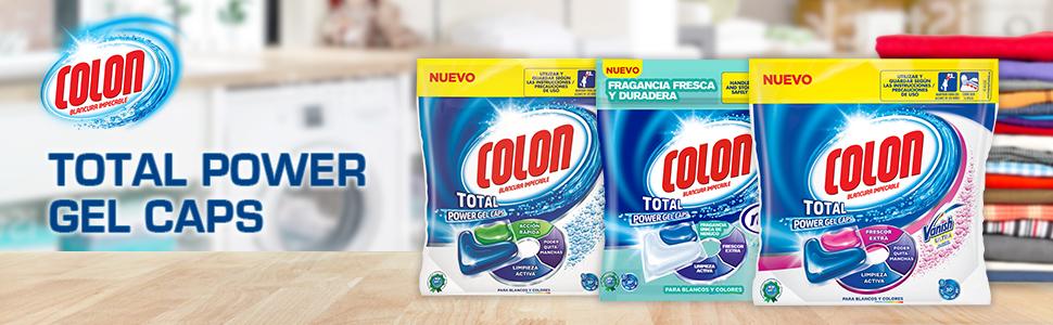 Colon Detergente de Ropa para Lavadora en Cápsulas con Quitamanchas Vanish - 32 Dosis: Amazon.es: Salud y cuidado personal