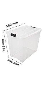 Boîte de rangement plastique transparent New Top Box NTB-60 par Iris Ohyama