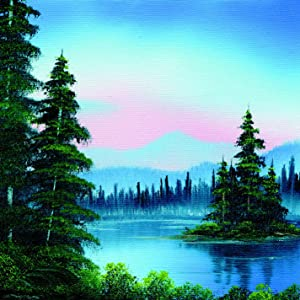 Painting with Bob Ross landscape