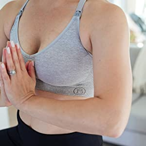 215afdd0480 BRAVADO! DESIGNS Women's Body Silk Seamless Yoga Nursing Bra at ...