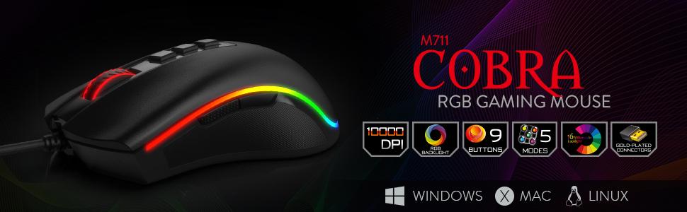 2041c2947ce Amazon.com: Redragon M711 Cobra Gaming Mouse with 16.8 Million RGB ...