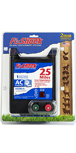 25 mile, fi-shock, charger, fence energizer, cattle, horses, pigs, bison