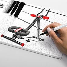 Bilder zeigt Skizzenbuch mit BT300 Design
