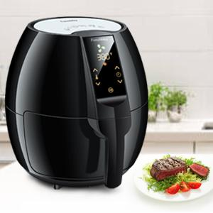 frenchmay touch control air fryer 3 7qt 1500w comes with recipes cook book. Black Bedroom Furniture Sets. Home Design Ideas