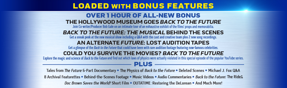 back to the future 35th anniversary ultimate trilogy bonus features