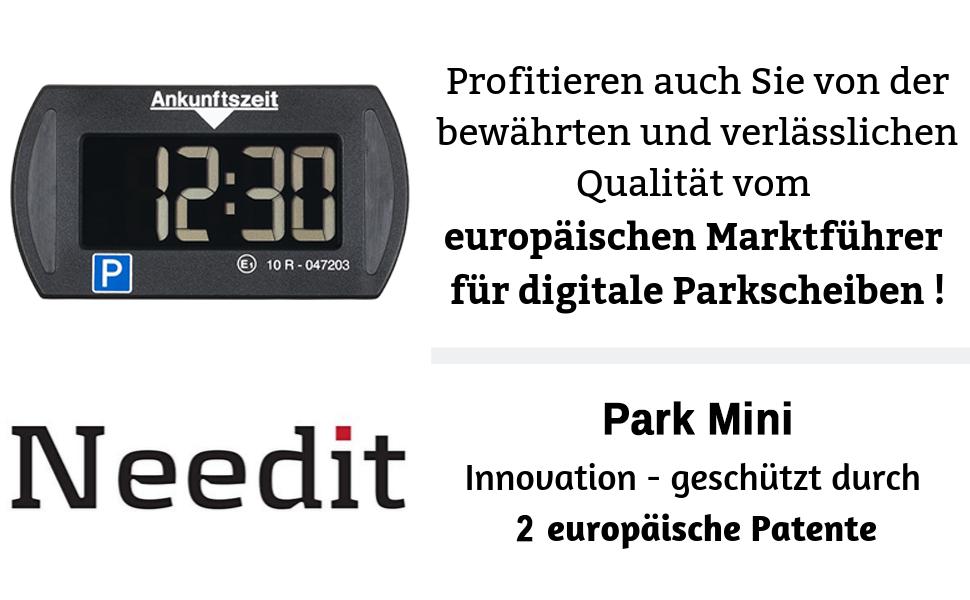Needit Park Mini Elektronische Parkscheibe Digitale Parkuhr Mit Offizieller Zulassung Des Kraftfahrtbundesamtes Auto
