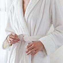 White Keila Sherpa Robe