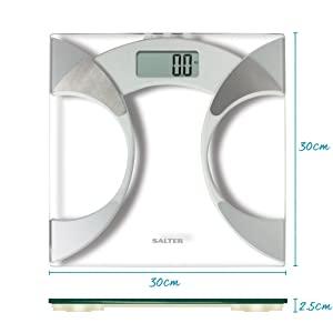 Salter Ultra Slim Glass Analyser Body Fat Scale