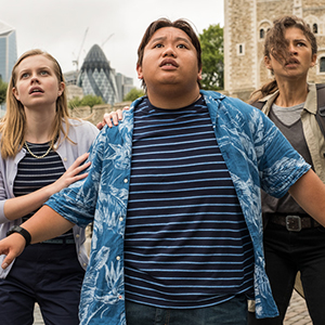 Angourie Rice (Betty), Jacob Batalon (Ned) and Zendaya (MJ) in Spider-Man: Far From Home