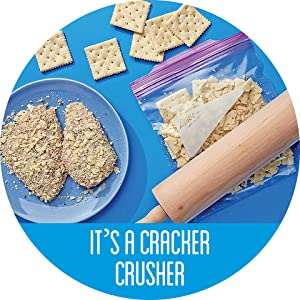 Ziploc Storage Bag with crackers