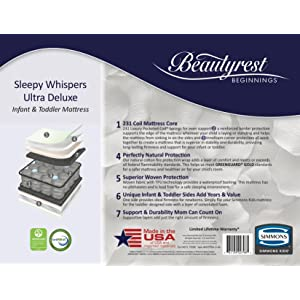 learn more about sleepy whispers ultra deluxe crib and toddler mattress - Sleepy Mattress