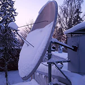 satellite,dish,winter,ice,melt,sodium,chloride,salt,shovel,lube,lubricant,stick,nonstick,non