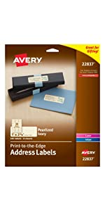 Avery Labels made of unique materials