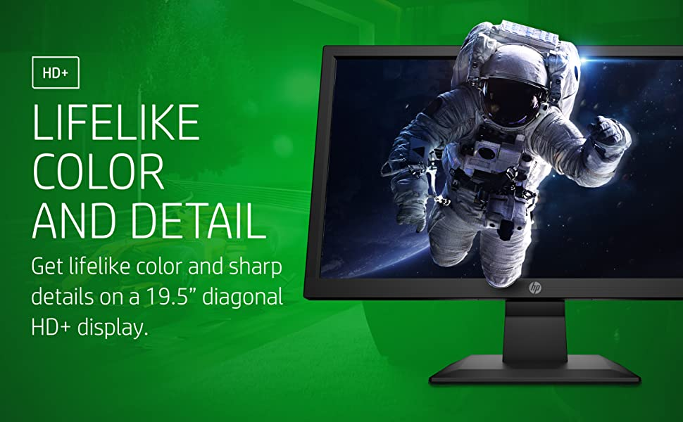 HP V20 HD+ Monitor Sharp Details