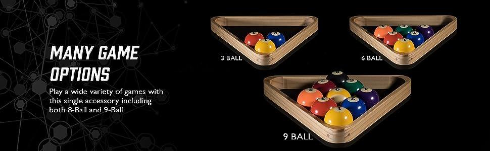 Plastic 8 Ball Pool Billiard Table Rack Triangle Rack Standard Size