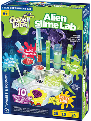 alien slime lab, ooze labs, science, science fiction, STEM, chemistry, UFO, unidentified, experiment