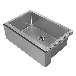 WHNPL3020, Gunmetal, Sink, Kitchen, Noah Plus, Grid, Drain, undermount, Stainless Steel