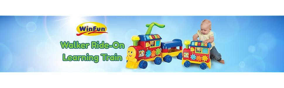 Amazon.com: WINFUN Walker Ride-On tren de aprendizaje, Rojo ...